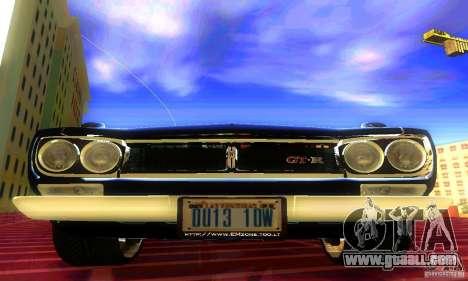 Nissan Skyline 2000-GTR for GTA San Andreas right view