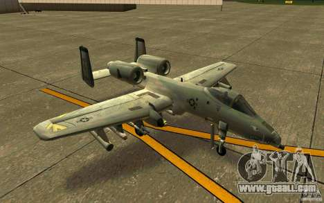 A-10 Warthog for GTA San Andreas left view