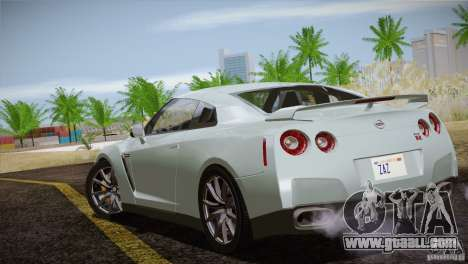 Nissan GTR Black Edition for GTA San Andreas upper view
