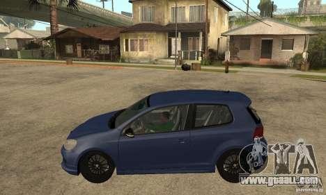 Volkswagen Golf Mk6 2010 for GTA San Andreas