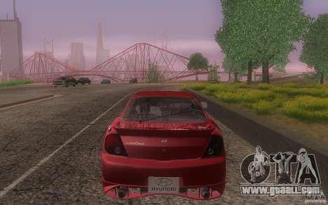 Hyundai Tiburon V6 Coupe tuning 2003 for GTA San Andreas upper view