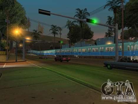 Metro e for GTA San Andreas back view