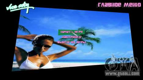 Menu background Spiaggia for GTA Vice City