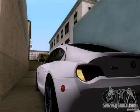 BMW Z4 M Coupe for GTA San Andreas bottom view