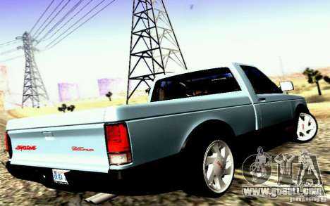 GMC Syclone Stock for GTA San Andreas left view
