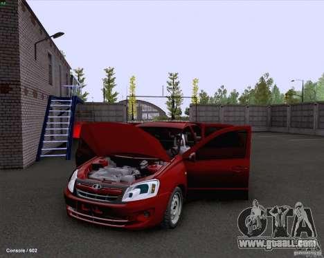 VAZ 2190 Drain for GTA San Andreas inner view