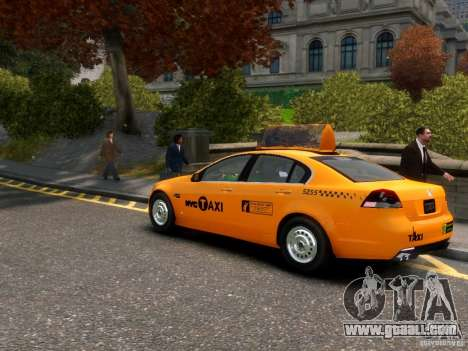Holden NYC Taxi for GTA 4 back left view