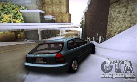 Honda Civic EK9 for GTA San Andreas back left view