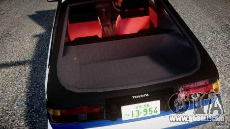 Toyota Trueno AE86 Initial D for GTA 4 upper view