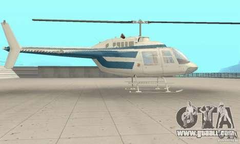 Bell 206B JetRanger II for GTA San Andreas back left view