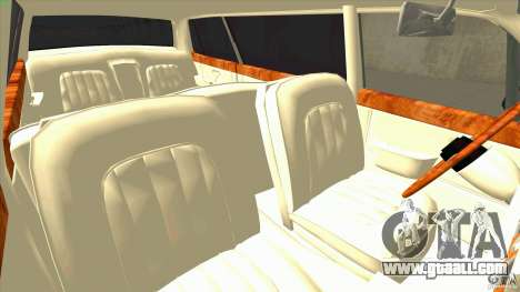 Rolls-Royce Silver Spirit 1990 Limo for GTA San Andreas inner view