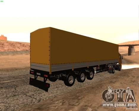 Trailer Nefaz from Truckers 2 for GTA San Andreas left view