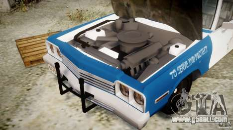 Dodge Monaco 1974 (bluesmobile) for GTA 4 back view