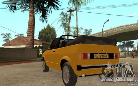 Volkswagen Golf MK1 Cabrio for GTA San Andreas back left view