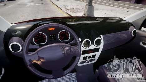 Dacia Logan 2007 Prestige 1.6 for GTA 4 back view