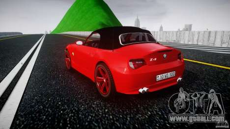 BMW Z4 Roadster 2007 i3.0 Final for GTA 4 back left view