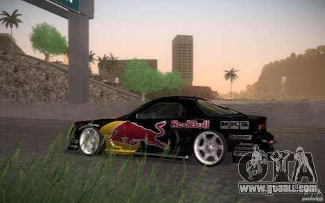 Mazda RX7 Madmikes Redbull for GTA San Andreas back left view