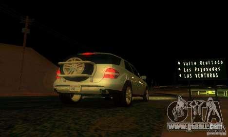 Mercedes-Benz ML500 for GTA San Andreas upper view