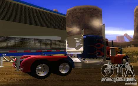Truck Optimus Prime v2.0 for GTA San Andreas right view