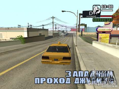 Real time for GTA San Andreas forth screenshot