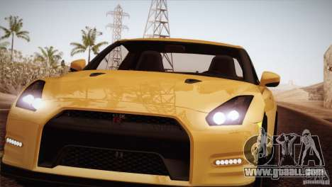 Nissan GTR Black Edition for GTA San Andreas