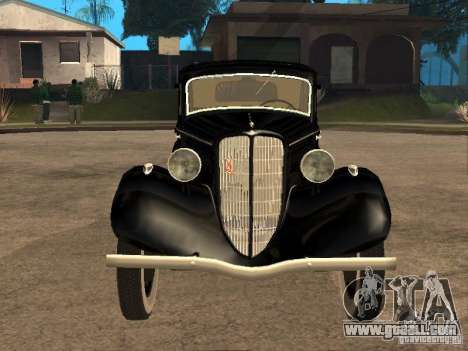Gaz M1 for GTA San Andreas back view