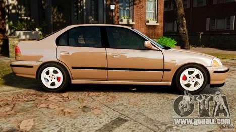 Honda Civic VTI for GTA 4 left view