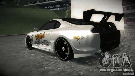 Toyota Supra MyGame Drift Team for GTA San Andreas back left view