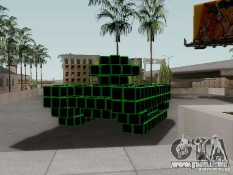 Pixel Tank for GTA San Andreas right view
