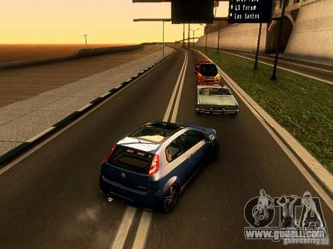 Fiat Punto Multijet for GTA San Andreas back left view