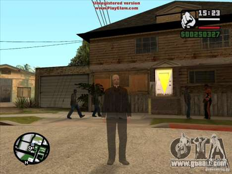 CJ ghost 1 VERSION for GTA San Andreas