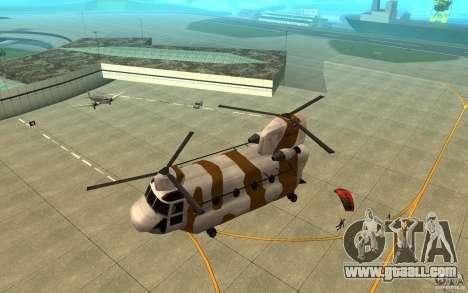 GTA SA Chinook Mod for GTA San Andreas bottom view