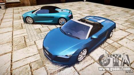 Audi R8 Spyder 5.2 FSI Quattro V4 [EPM] for GTA 4 back left view