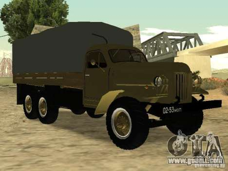 ZIL 157 for GTA San Andreas back view