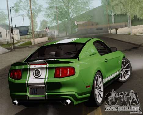 Ford Shelby GT500 Super Snake 2011 for GTA San Andreas inner view
