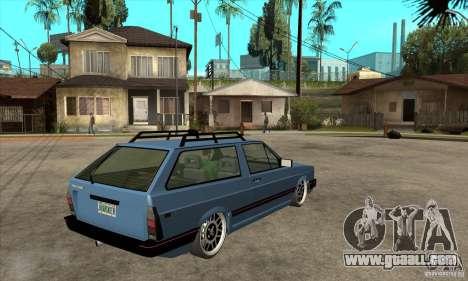 VW Fox 1989 v.2.0 for GTA San Andreas right view