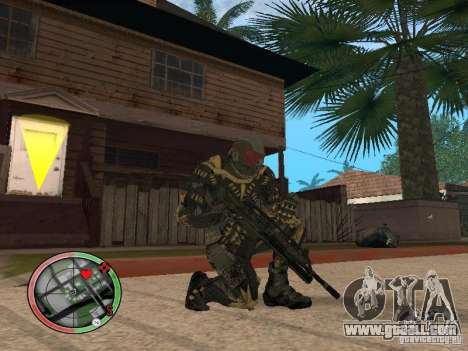 Collection of weapons of Crysis 2 for GTA San Andreas second screenshot