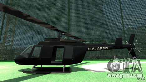 Black U.S. ARMY Helicopter v0.2 for GTA 4 back left view