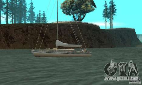 Marquis Segelyacht 09 Textures for GTA San Andreas left view