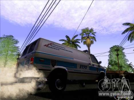 Chevrolet VAN G20 NYPD SWAT for GTA San Andreas back view