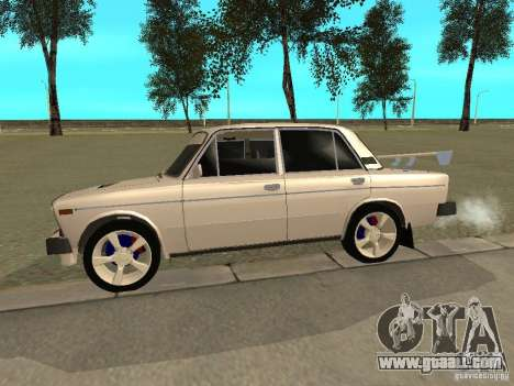 VAZ 2106 West Style for GTA San Andreas back left view