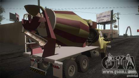 Ural 4320 concrete mixer for GTA San Andreas right view