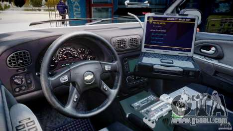 Chevrolet Trailblazer Police V1.5PD [ELS] for GTA 4 right view