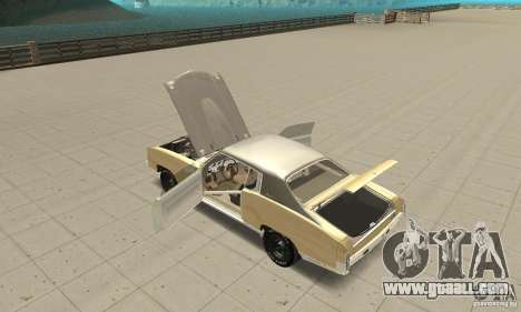 Chevy Monte Carlo [F&F3] for GTA San Andreas inner view
