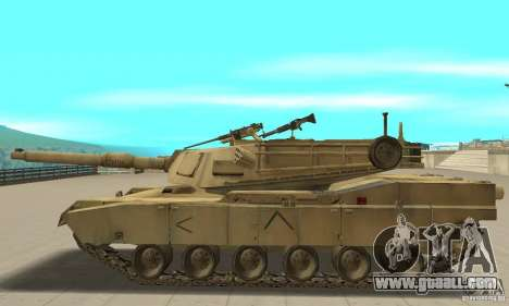 Tank M1A2 Abrams for GTA San Andreas left view