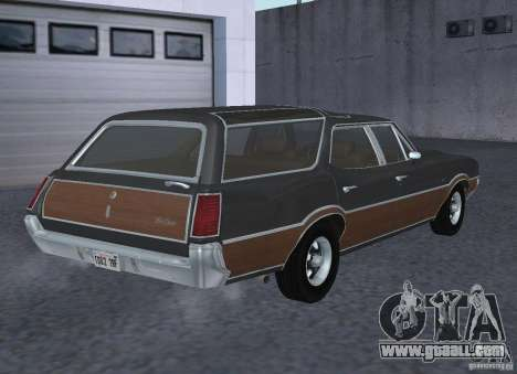 Oldsmobile Vista Cruiser 1972 for GTA San Andreas back left view
