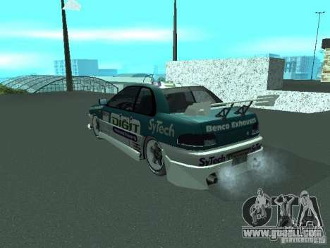Subaru Impreza for GTA San Andreas bottom view