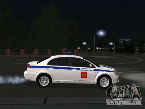 Toyota Avensis DPS for GTA San Andreas left view