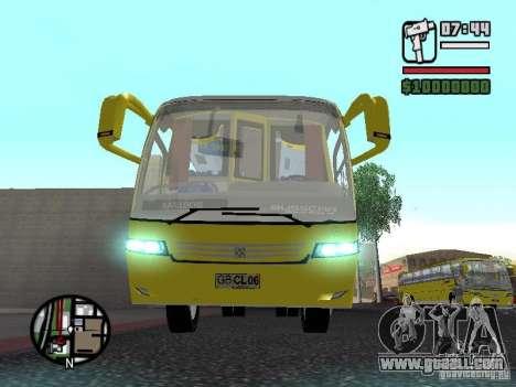 Busscar Vissta Bus for GTA San Andreas inner view
