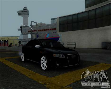Audi RS4 for GTA San Andreas upper view